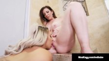Adult Award Winning Sara Jay Lesbo Fucks Nina Kayy In Shower