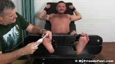 Hairy tattooed dude loves a good tickle