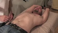 Strong homo Jay tied up and tickled hard