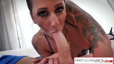 FirstClassPOV - Della Dane sucking a monster cock, big boobs & big booty