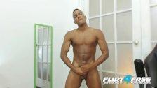 Flirt4Free - Tato Gari - Blatino Stud Gives His BBC a Hard Whack