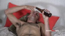 Handsome Hairy Model & Toys & zucchini fuck!
