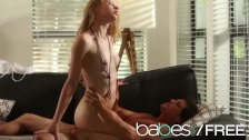 BABES - Sexy Blonde teen Molly Bennett rides her bf and takes it doggystyle