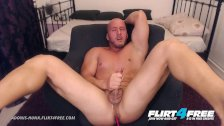 Adonis Hunk - Flirt4Free - Muscle Stud Bondage Torture Before Hot Cumshot