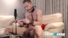 Flirt4Free - Steve Blond - Hot Euro Stud Tortures Himself in Bondage