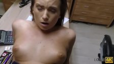 LOAN4K. Bewitching college girl sells her smooth pussy for cash