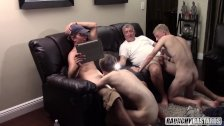 Daddy and All His Straight Boys Suck and Eat Cum