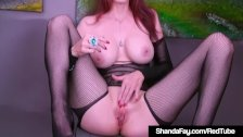 Creaming Cougar Shanda Fay Dildo Fucks Her Creamy Cunt!