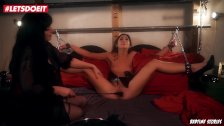 LETSDOEIT - Submissive Lullu Gun handcufffed and Dominated by Mature Woman