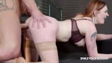 PrivateDOTcom - Gorgeous Redhead Carly Rae Fucks At Breakfast!
