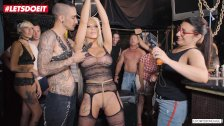 LETSDOEIT - Tattooed Blonde In BDSM Scene At A Party