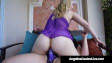 Cuban BBW Angelina Castro Fucks Joslyn Jane With Fake Cock!