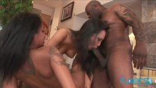 Asa Akira interracial threesome