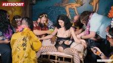 LETSDOEIT - 20 Year Old Slut Gets Bondage Sex At Party