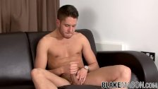 Young twink Mark Coxx wanking big cock solo and cumshot