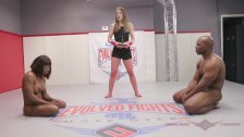 Muscular Kelli Provocateur Loses to a Man in Nude Wrestling Match