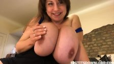 Teen with huge boobs posing on webcam her bra collection