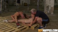 Sub Johnny Polak made suck twink cock by maledom in dungeon