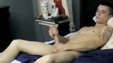 Naughty amateur Gage Winchester works on cock solo