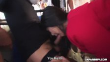 Japanese brunette, Aimi Nagano got fucked in the bus, uncensored