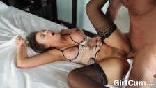 GIRLCUM She Cums Multiple Times with Dripping Facial! Alexis Adams