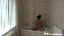 Incredible babe in the shower shows her goodies - duration 8:24