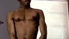 Ebony stud slowly works on his BBC and orgasms good