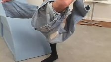 Naughty jock showing his beautiful feet off