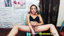 Sexy Shemale Jerking Her Dick