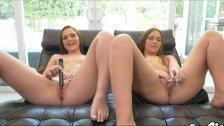 Twin sisters masturbating