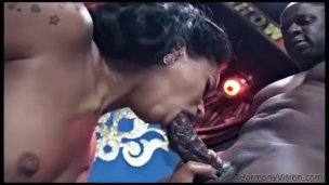 Ebony anal circus