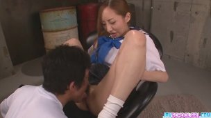 Vibrator action and mouthful of cum Aihara Er