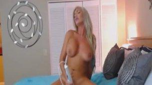 Very Hot White Hair Big Boobs Webcam Babe