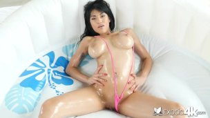 EXOTIC4K Busty Asian Tries To Fit Big Dick In Her Tight Ass