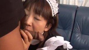 Japanese milf Ami Kitajima sucks on a fat juicy cock - More at hotajp com