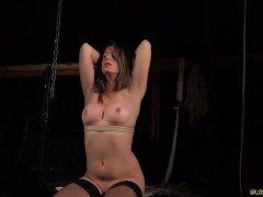 BDSM SLAVE GETS COCK SHOVED DEEP IN THROAT