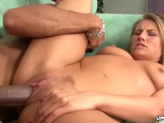 Black dude explodes all over her milfy and slutty face
