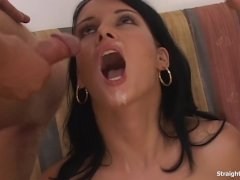 Sexy Amber Rayne Dildo And Cock Fucked Ass