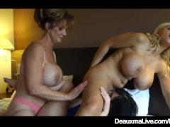 Texas Cougar Deauxma Scissor Fucks GF & Dolly Fox In 3Some!
