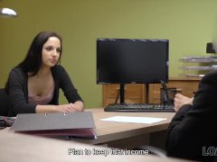 LOAN4K. Assfucking helps smart bitch get credit for her new business