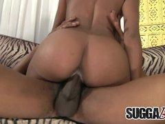 Cute Ebony Floozy Karma May Is Dicked Really Good by a Big Black Cock