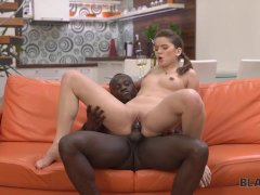 BLACK4K. Tender Evelina Darling wants to suck and ride black cock