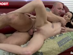 LETSDOEIT - Naughty Petite French Teen Rides Daddy