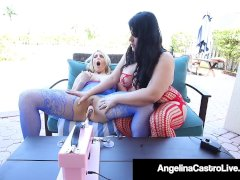 Plump Cuban Angelina Castro Machine Fucks Curvy Joslyn Jane!