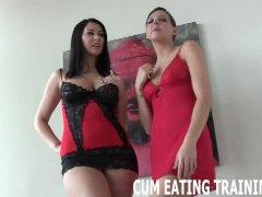 Cum Feeding And CEI Femdom Porn