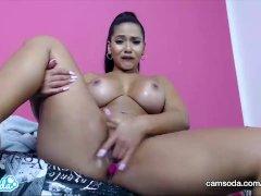 CamSoda - Rose Monroe Latina Big Ass Big Tits Masturbation and Anal plug