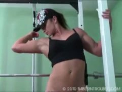Muscle Girl Ass Spanking