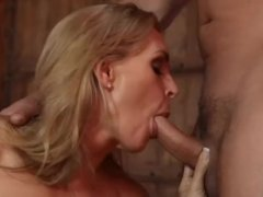 Hot MILF gets a cock inserted inside