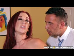 Sexy redhead businesswoman closes big deal - brazzers