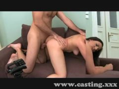 Monster facial for freaky brunette
